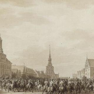 1807년 6월 틸시트 대광장에서의 나폴레옹 1세와 알렉산더 대왕의 만남