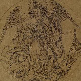 영혼의 무게를 재면서 악마를 발로 짓밟는 성 미카엘 대천사