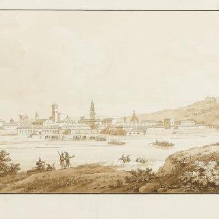 카살 도시를 점령하기 위해 포를 건너는 베르티에르 장군