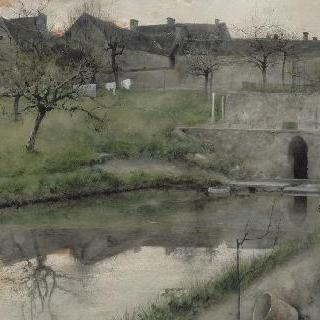 그레츠쉬르루앙의 연못