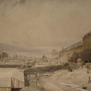 루브르와 퐁데자르 다리의 전경