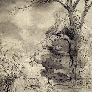 물가에 앉아있는 벌거벗은 여인, 성녀 막달라 마리아