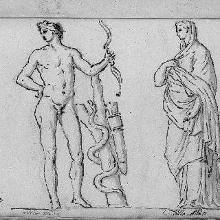 두 명의 입상 : 아폴론 사우로슈토네와 한 사비나 여인