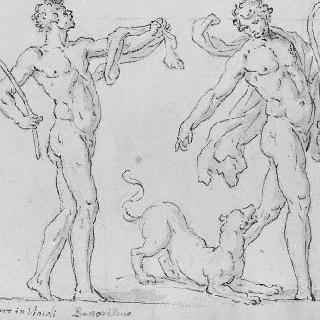 한 마리의 표범과 두 명의 사티로스