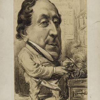 지오아치노 안토니오 로시니의 희화화된 초상 (1792-1868), 작곡가, 요리사