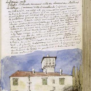 공쿠르 화첩 : 이탈리아 여행 (133 페이지 : 피렌체의 브뤼넬레스치의 고대 마을)