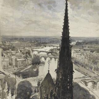 파리 노트르담 대성당 : 탑에서 본 화살