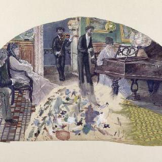 니나 드 칼리아스의 응접실 (부채 계획안)