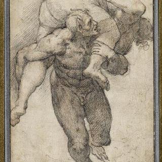 마지막 심판의 인물, 신으로부터 버림받은 사람을 데려가는 악마