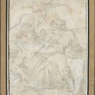 성 세바스티아누스의 몸에서 화살을 빼내는 에이레네