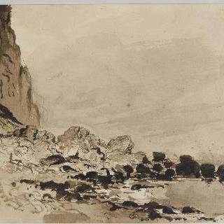 페캉 방향으로 무너진 노르망디 절벽