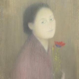 꽃을 든 여인
