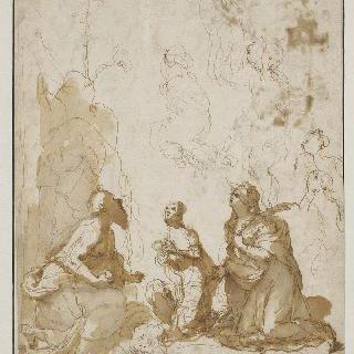 경배하는 세 명의 성자들