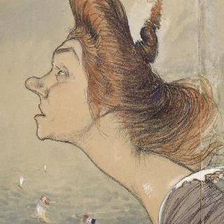 이베트 길베르의 희화화된 초상 (1867-1944)