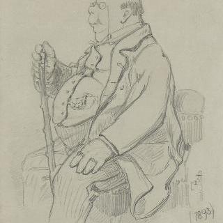 앙리 솜의 초상 (1844-1907), 프랑수아 클레망 소미에르의 필명