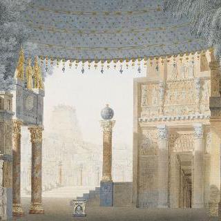 카텔의 세미라미스 3막 장식 계획안