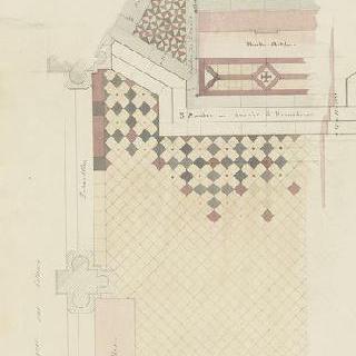 나폴레옹빌의 본방 성당 : 성가대석의 바둑판 무늬