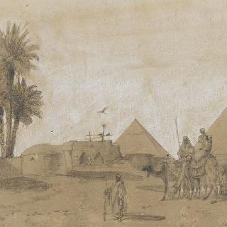 지제트 피라미드 근처의 카프르와 하룬의 마을