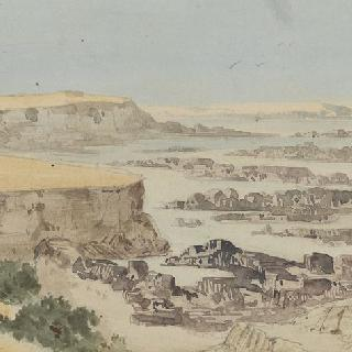 누비아의 나일강의 두 번째 폭포 정경