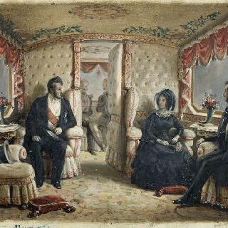 왕비, 루이 필립과 알베르 왕자가 탄 빅토리아 여왕의 객차