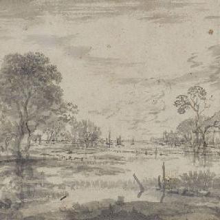 강가의 시골 가옥들
