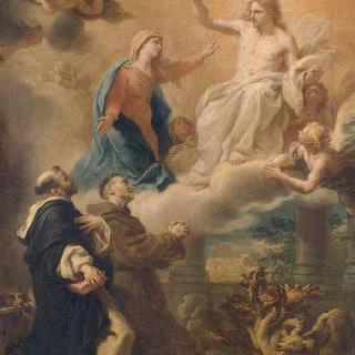 성모의 중재아래 그리스도에게 간청하는 성 도미니크와 성 프랑수아