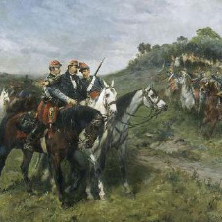 1870년 9월 1일 세단 전투에서 치명적인 부상을 입은 마르그리트 장군