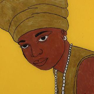 금빛 스카프를 한 여인의 초상