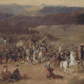 1843년 오말 공작의 아브 델 카데르의 스말라 점령