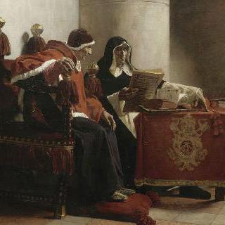 교황 식스토 4세와 조사관