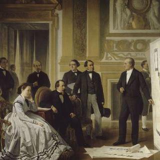 루브르의 준공, 비르콩티가 제시한 계획을 승인하는 황제 (1866년 관)