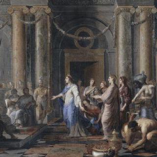사바의 여왕을 맞이하는 솔로몬