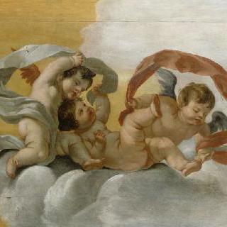 구름 가운데 세 명의 사랑의 신