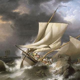 폭풍우가 몰아치는 장면
