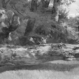 퐁텐블로 숲 : 숲 속 빈 터 죽은 나무 줄기