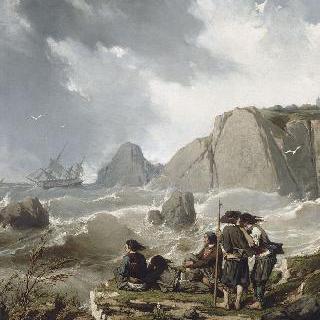브르타뉴 해안의 난파
