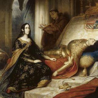 남편 필립 르 보의 부활을 기다리는 광녀 잔