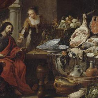 마르타와 마리아 집의 예수