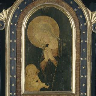 성모, 아기 예수와 천사