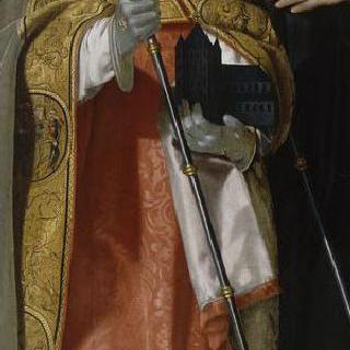 용을 몰아내는 성 아망과 주교