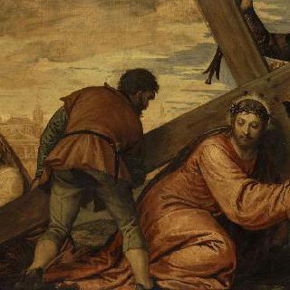 십자가의 무게에 짓눌린 예수