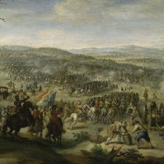 프라하 부근의 블랑슈 산의 전투로 추정되는 재현 그림