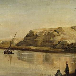 이집트 풍경 : 언덕가의 나일강