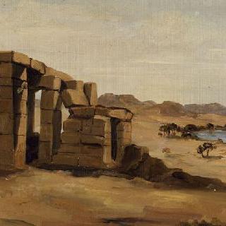 이집트 풍경 : 누비 지역 아마다 사원에서 바라본 전경
