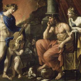플루톤과 페르세포네 앞의 오르페우스