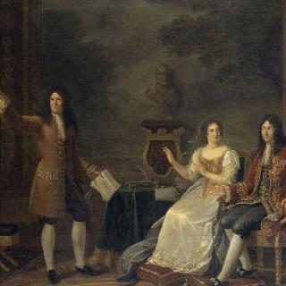 루이 14세와 맹트농 부인 앞에서 아탈리를 읽는 라신