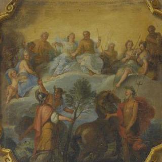 포세이돈과 미네르바의 다툼