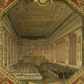 루브르에서 의회 개회을 위한 왕의 회의