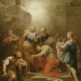 성 바오르에게 안수하는 아나니아