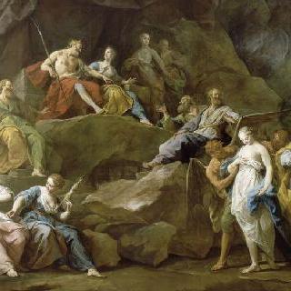 에우리디케를 데려오기 위해 지옥으로 내려가는 오르페우스